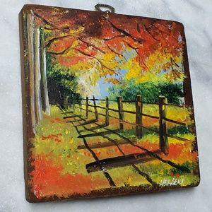 Vintage | Fall Painting on Wood